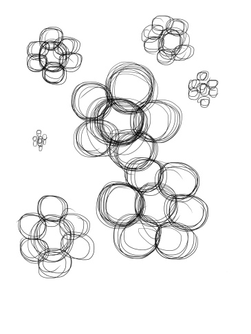 led to this pattern of 6 or 7 groups of circles