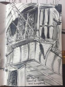 The organ at Emanuel Church, West Hampstead