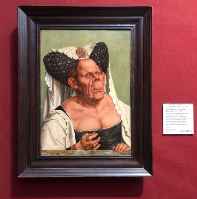 Quentin Matsys, 'The Ugly Duchess', 1513, oil on board in National Gallery, London.