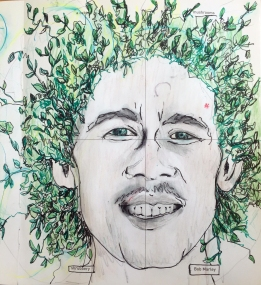 Shrubbery Bob Marley (mushrooms and cabin ignored). Image courtesy the artist and bewareofartists.com